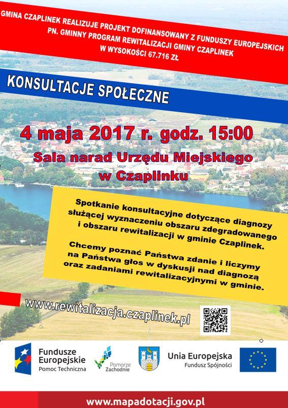 Plakat o spotkaniu 4 maja