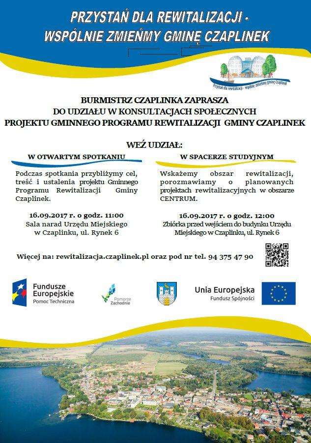 Plakat zapraszający do udziału w konsultacjach społecznych GPR